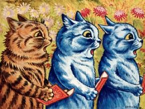 Три поющих кошки, Луис Уэйн, 1925 г.