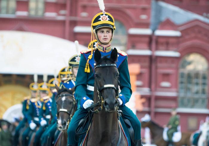 Кавалерист почётного эскорта Президентского полка