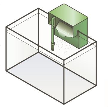 Схема внешнего подвесного фильтра