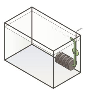 Схема простого аэрлифтного фильтра