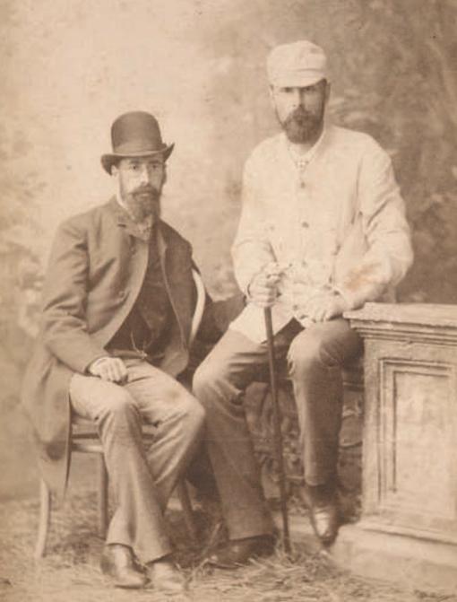 Первые профессиональные российские аквариумисты Н. Ф. Золотницкий (слева) и А. С. Мещерский (справа)