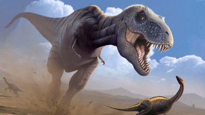Орнитомимы нередко попадали в лапы гигантскому тираннозавру,