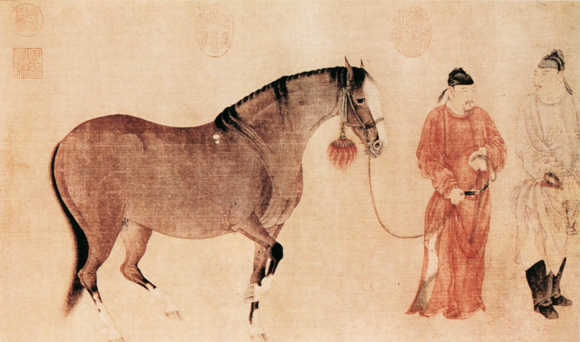 Древнегреческие кони с рыбьими хвостами