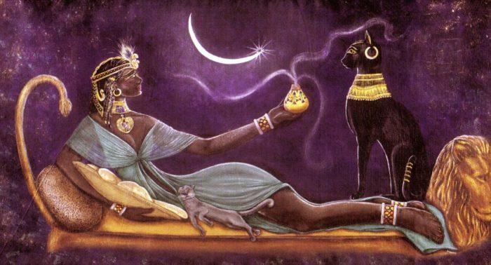 почитание кошек в древнем Египте